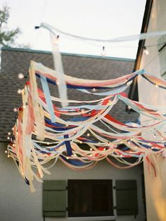 great backyard party decorations.  @Jenna Nelson Nelson Dunbar, it looks like our back porch!