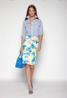 c2d516a50b97 Mixing patterns and prints. Pefert look for spring .See the complete Polo Ralph  Lauren