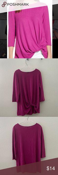 Medium NEW Kersh Ladies/' Long Sleeve Embellished Top Purple Dot Pattern X-Large