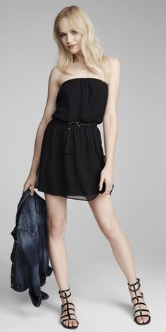 It's Friday! Throw on a LBD and some killer heels, it's time to party. #Express #LBD #latenight