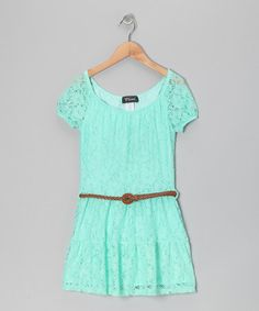 Take a look at this Mint Prairie Dress - Girls by Btween on #zulily today!