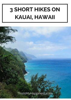 3 Amazing Short Hikes on Kauai, Hawaii 3 beautiful, short hikes on the island of Kauai Kauai Vacation, Hawaii Honeymoon, Dream Vacations, Vacation Spots, Vacation Places, Oahu, Kauai Hawaii, Hawaii 2017, Poipu Kauai