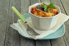 millet with baked vegetables salad Baked Vegetables, Vegetable Salad, Tea Cups, Tableware, Kitchen, Dinnerware, Cooking, Tablewares, Kitchens