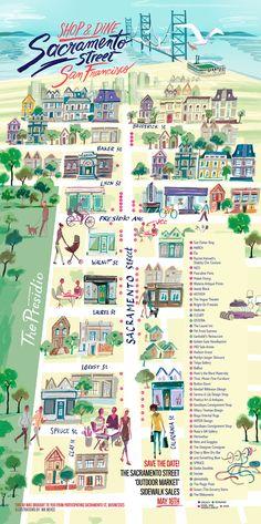 Sacramento St. - San Francisco - Nik Neves #map #sanfrancisco #sfc