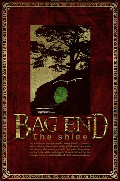 Bag End poster from the Hobbit and Lord of the Rings - Tolkein