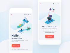 Zyra l Responsive by Ranjith Alingal - Dribbble Mobile Ui Design, App Ui Design, User Interface Design, Page Design, Layout Design, Web Design, Design Ideas, Splash Screen, Mobile App Ui