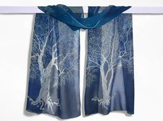 Silk scarf White Tree of Gondor long Silk Scarves hand painted  ( Etsy:: http://www.etsy.com/listing/121803659/silk-scarf-white-tree-of-gondor-long )