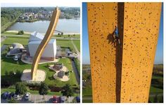 Highest climbing wall in the world in the Netherlands to the north (Holland is technically called the Western part of Netherlands).