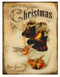 Kerstklokken luiden het ,,Nieuwe jaar in,, ...postkaart  lb  xxx.
