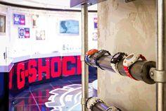 Casio G-Shock pop-up shop in Harrods, London G Shock Watches, Casio G Shock, Product Display, Pop Up Shops, Popup, Retail Design, Stores, Visual Merchandising, Store Design
