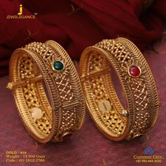Jewellery that totally rocks. Get in touch with us on fancy bangdi Gold Bangles Design, Gold Earrings Designs, Gold Jewellery Design, Necklace Designs, Designer Bangles, Gold Jewelry Simple, Bridal Jewelry, Women Jewelry, Jewelry Sets