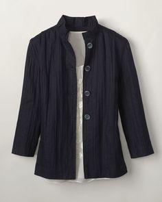 zen crinkled jacket, coldwater creek