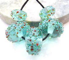 Lampwork Glass Beads Goldfish Fritties Raised by shineon2 on Etsy, £12.50