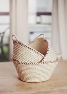 Inspiración: cestas de cuerda | Aprender manualidades es facilisimo.com