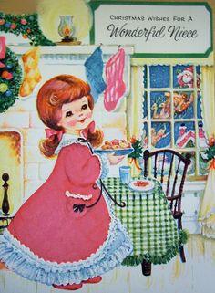 Vintage Christmas card for niece!