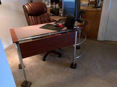 Computer Desk Drafting Desk, Furniture, Home Decor, Homemade Home Decor, Writing Desk, Home Furniture, Interior Design, Decoration Home, Home Interiors