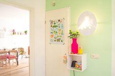 Mooie kleur op de muur