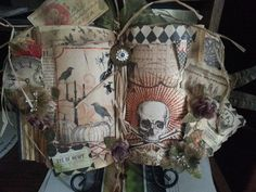 Altered Halloween book - Scrapbook.com. This is my altered book.