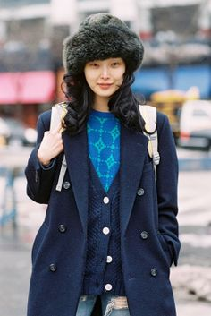 Sung Hee Kim tosses on the layers in NYC