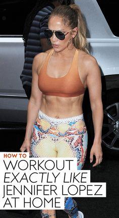 How to Workout Exactly Like Jennifer Lopez at Home Killer Workouts, Fun Workouts, Workout Exercises, Body Workouts, Jennifer Looez, Jennifer Lopez Workout, Celebrity Workout, Celebrity Fitness, Hottest Female Celebrities