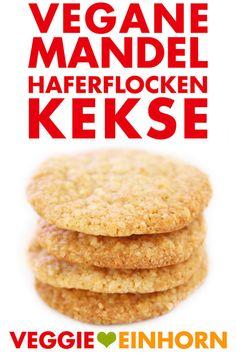 Schnelle VEGANE KEKSE backen | Leckere Mandel-Haferflocken-Cookies | Super leckere Hafercookies schnell und einfach | Haferkekse backen | Vegane Cookies deutsch | >