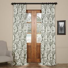 Found it at Wayfair - Haines Nature/Floral Semi-Sheer Thermal Pinch Pleat Single Curtain Panel