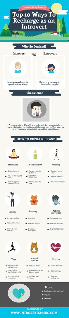 too tired after work - how to recharge as an introvert {infographic} #introvert #infj