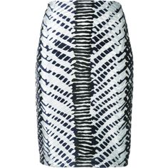 Yigal Azrouel Herringbone high-waisted skirt ($870) ❤ liked on Polyvore featuring skirts, black, yigal azrouÃ«l, herringbone skirt, yigal azrouel skirt and high-waist skirt