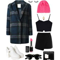 """top rock pink set"" by flam16 on Polyvore"