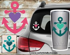 A personal favorite from my Etsy shop https://www.etsy.com/listing/521263508/anchor-heart-decal-anchor-love-decal
