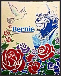 Super cool Bernie Sanders art! #Bernie2016 #feelthebern