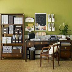 Wohnideen  Arbeitszimmer Home Office Büro - Natürlichen grünen Büro zu Hause