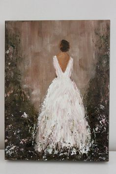 Original Figurative Painting Ever After 9 x 12 x 1 5 Garden Gown Swalla Studio Dress Painting, Woman Painting, Figure Painting, Painting & Drawing, Painting Studio, Garden Painting, Studio Art, Wedding Painting, Acrylic Art