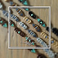 JoMy Creations: Vier leuke kleurige armbandjes van Arcos en Minos par Puca, Miniduo, 4 mm Round  en Seed beads. Aangepast Patroon is Jan van de Puca Shop.