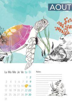 MaPetiteCamelotte: Calendrier du mois d'Août