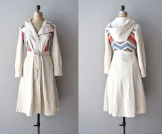 70s trench coat / 1970s belted trench / Day by Day trench. $138.00, via Etsy.