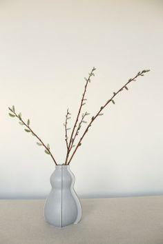 Gunmetal black vase. Perfect for winter twigs by KalaSteinCeramics