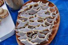 Shark Cookies - Coastal Cookies