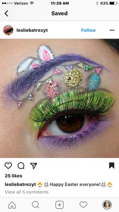 Easter makeup Easter makeup The post Easter makeup & Extrem appeared first on Glossy makeup . Makeup Eye Looks, Creative Makeup Looks, Eyeshadow Looks, Pretty Makeup, Face Makeup, Makeup Stuff, Makeup Inspo, Makeup Art, Makeup Ideas