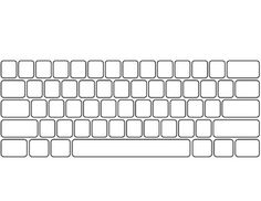 Included is a blank template of a QWERTY keyboard and numeric keypad.  This is great to use as a supplement when teaching home row keys or as a printable for a test.*Please note I have made this to fit a regular 8 1/2 x 11 sheet of paper (when margins are decreased), but I personally expand it into legal size and use it as a more exact match in size to an actual keyboard.*Function keys, cursor keys, and other special keys are not included.
