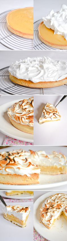 now that's what I call lemon meringue! Just Desserts, Delicious Desserts, Dessert Recipes, Yummy Food, Oreo Dessert, Eat Dessert First, Doce Banana, Sweet Pie, No Cook Meals