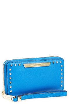 Hot studded tech wristlet. Blue is amazing.