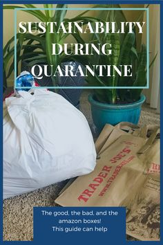 #sustainability #quarantine #amazon # plastic bags #howto Growing Greens, Bad Food, Bag Packaging, Plastic Bags, Food Waste, Carbon Footprint, Reusable Bags, Party Planning, Sustainability