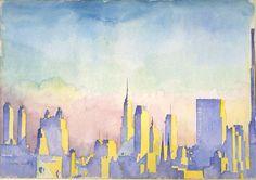 'Manhattan Skyline' / Artist: John Held Jr. / ca. 1934