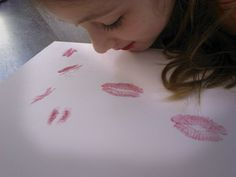 """Send your loved ones some kisses in the mail!  Relatives will appreciate these """"love letters,"""" and they double as a creative activity for oral motor control and lip extension.  Visit pinterest.com/arktherapeutic for more #oralmotor therapy ideas"""