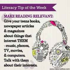 #Literacy Tip - Make #Reading Relevant, especially for #Teens!