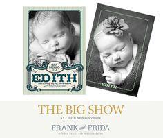 Birth Announcement Photoshop Template  The Big by frankandfrida, $8.00