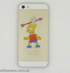 Твердый пластиковый чехол Барт Симпсон на iPhone 5 5S