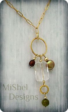 Gold Charm Necklace by Michelle Buettner of MiShel Designs