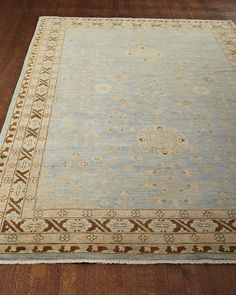 Pinto Rug, 10' x 14', Mineral Blue/Tan - Neiman Marcus
